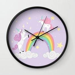 I Believe - Purple Wall Clock