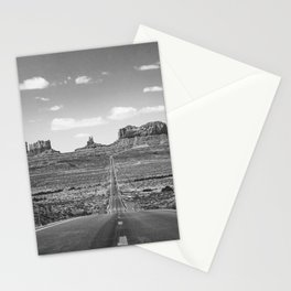 On the Open Road - Monument Valley - b/w Stationery Cards