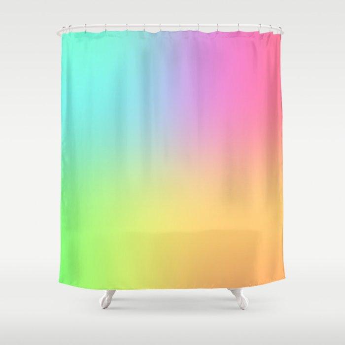 Blended Rainbow Shower Curtain