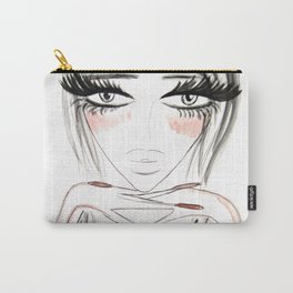 Grey Eyes Carry-All Pouch