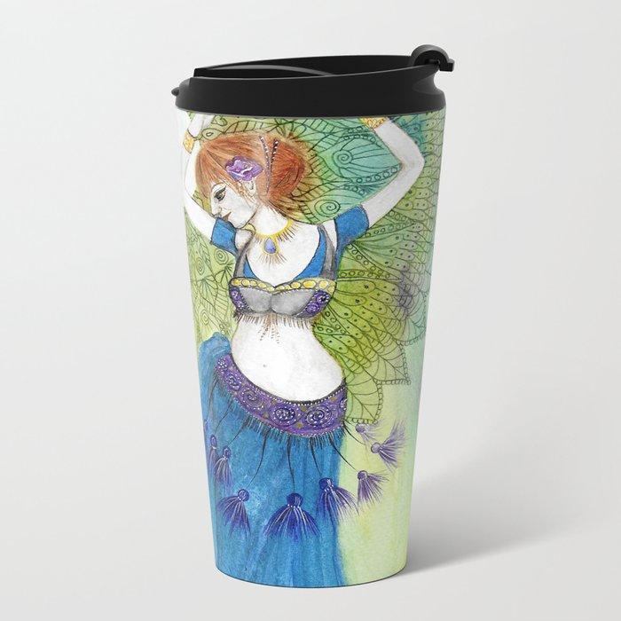 Belly Dancer Goddess Metal Travel Mug