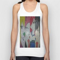 fairy tail Tank Tops featuring Fancy Fairy Tail Arrangement One by X21DaysOfMoonX