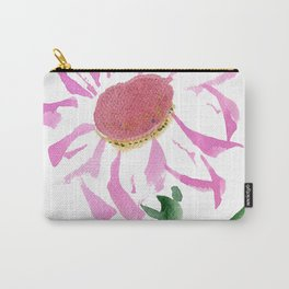 Pink Aster by artist John E. Carry-All Pouch