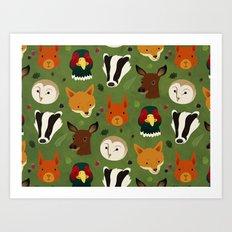 British Woodlands Art Print