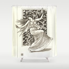 "Gustave Moreau ""Dancing Nymph (Nymphe Danseuse)"" Shower Curtain"