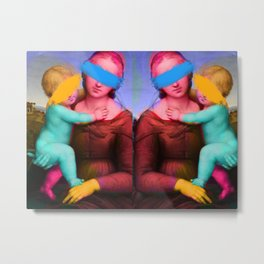 Raphael Classical Painting Remix Pop Art Metal Print
