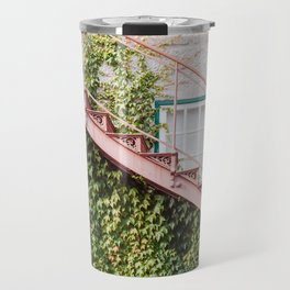 Stone House with Ivy Wall Travel Mug