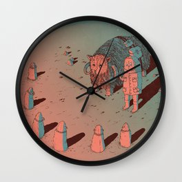 The Bison #2 Wall Clock