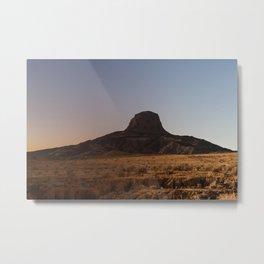 Day / Night Mountain View Metal Print