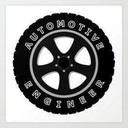 automotive engineer, car mechanic engineering Art Print