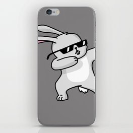 Dabbing Easter Bunny iPhone Skin
