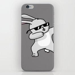 Dabbing Easter Bunny iPhone Skin