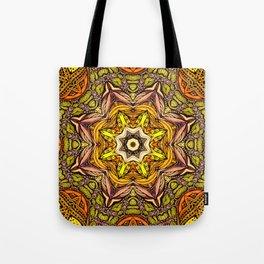 Abstract orange mandala Tote Bag