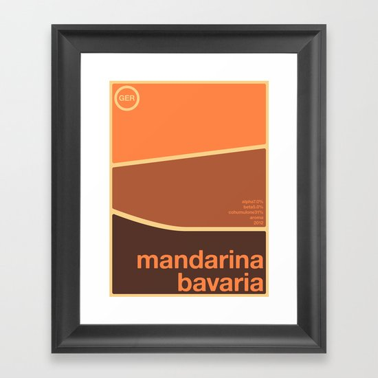 mandarina bavaria single hop Framed Art Print