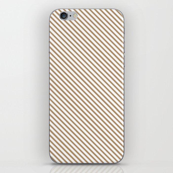 Iced Coffee Stripe iPhone Skin