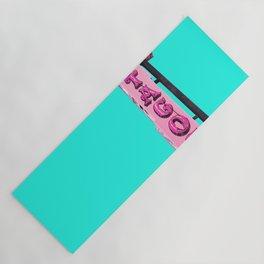 Cha-Cha's Tacos Retro Vintage Pink Sign Yoga Mat