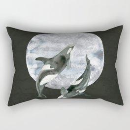 orcas' moon dance Rectangular Pillow