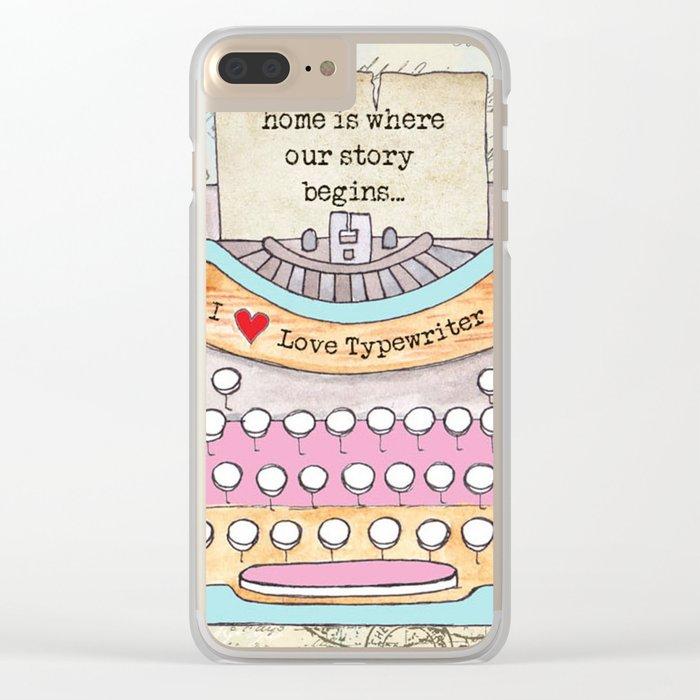 Typewriter #6 Clear iPhone Case