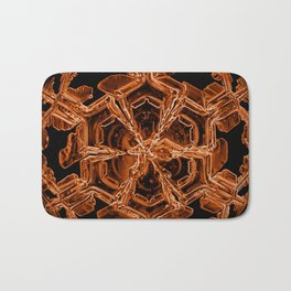 Orange Sexy Snow Bath Mat