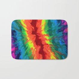 THE RAINBOW - Abstract Fluid Acrylic Painting Bath Mat