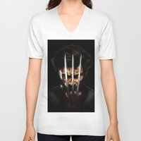 x men V-neck T-shirts featuring x men by Fila Venom Art