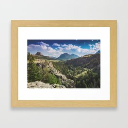 Chief Joseph Scenic Pass Framed Art Print
