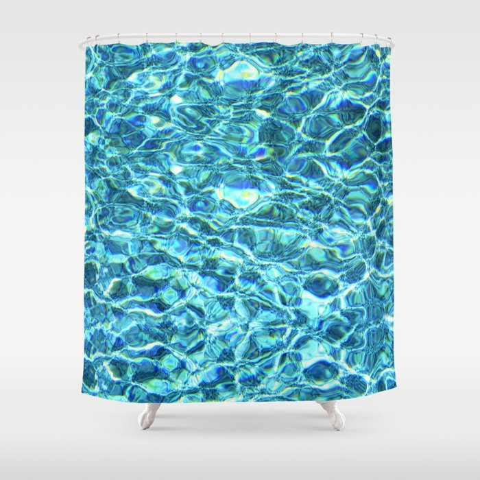 Shimmering Water Shower Curtain by falln | Society6