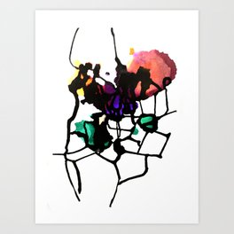 Secondary Splatter Art Print