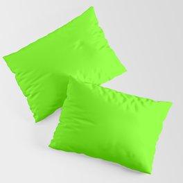 Bright Fluorescent  Green Neon Pillow Sham