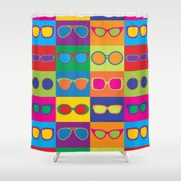 Pop Art Eyeglasses Shower Curtain