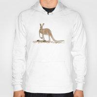 kangaroo Hoodies featuring Kangaroo by Emma Traynor