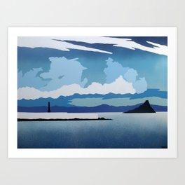 Mounts Bay Art Print