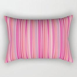 Retro Stripes Pink Rectangular Pillow