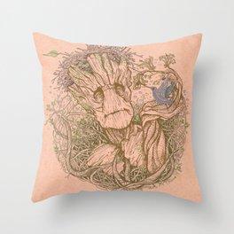 Groot Fan Art Throw Pillow