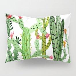 Green Simple Cacti Pillow Sham