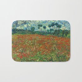 Vincent Van Gogh Poppy Field Bath Mat