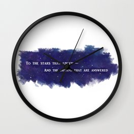 To the Stars that Listen (White) - A Court of Mist and Fury Wall Clock