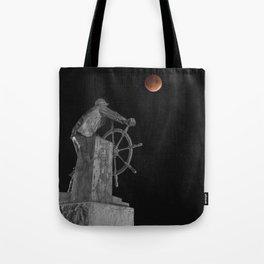 Fisherman's Memorial Lunar Eclipse BW #2 Tote Bag