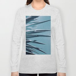 Palm Rays - Duotone Black and Teal Long Sleeve T-shirt