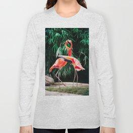 Flamingo Dance (Color) Long Sleeve T-shirt