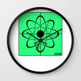 Science Research atomic physics proton gift Wall Clock