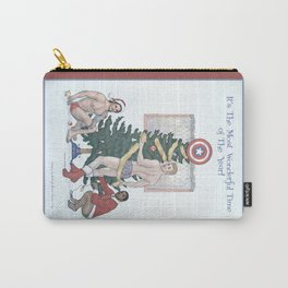 Team Cap Nice Pinup Holiday Card Carry-All Pouch