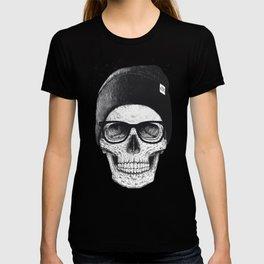 Black Skull in a hat T-shirt