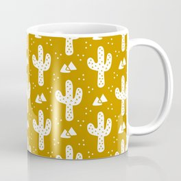 Mustard Gold Cacti Coffee Mug