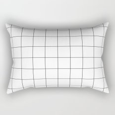 White Grid  /// www.pencilmeinstationery.com Rectangular Pillow