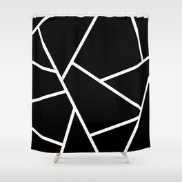 Black and White Fragments - Geometric Design II Shower Curtain