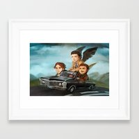 supernatural Framed Art Prints featuring Supernatural by RAVEFIRELL