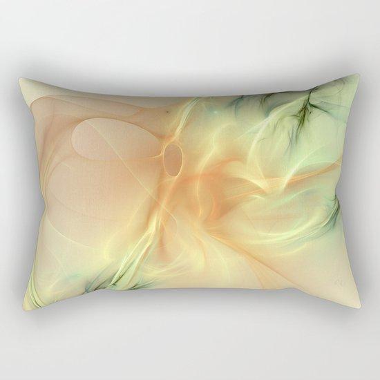 Warm Synergy Fractal Rectangular Pillow