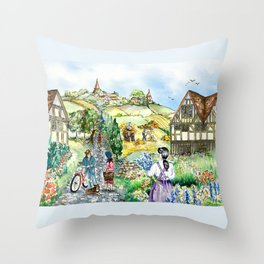 European Village Throw Pillow