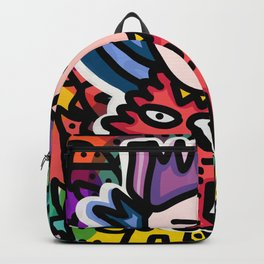 Cipo King Boy Street Art Graffiti with Red Dog Backpack
